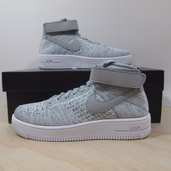 Nike Air Force 1 AF1 Ultra Flyknit Mid GS Grey NEW NWT